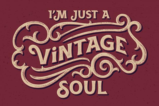 Cartaz de letras vintage