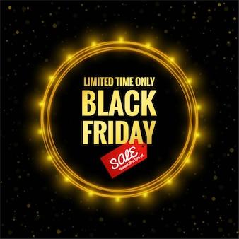 Cartaz de liquidação da black friday