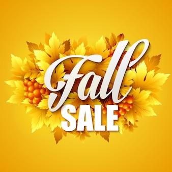 Cartaz de liquidação de outono