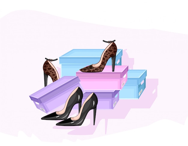 Cartaz de loja de sapatos anunciar