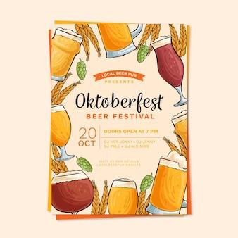 Cartaz de mão desenhada oktoberfest