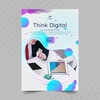 Cartaz de marketing comercial