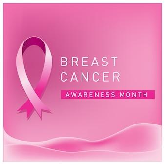 Cartaz de mês de conscientização de câncer de mama