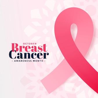Cartaz de mês de outubro de conscientização de câncer de mama