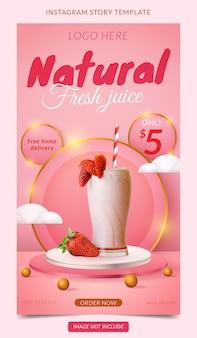 Cartaz de mídia social com display de produto em 3d em rosa e pódio branco