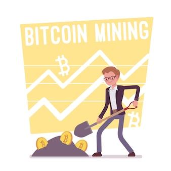 Cartaz de mineração de bitcoin