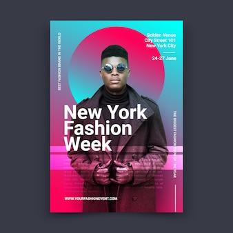 Cartaz de moda colorida com foto