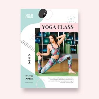 Cartaz de modelo de aula de ioga