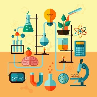 Cartaz de modelo de laboratório de pesquisa científica
