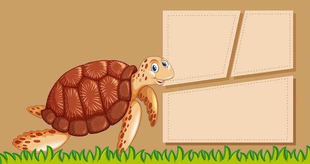 Cartaz de modelo de quadro animal com copyspace em branco
