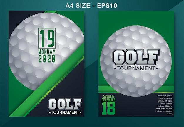 Cartaz de modelo de torneio de competição de clube de golfe