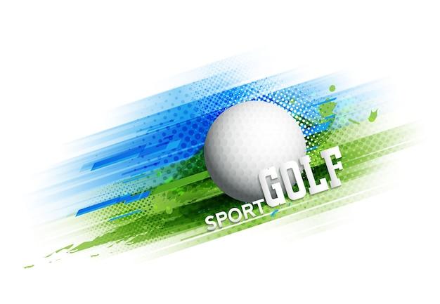 Cartaz de modelo de torneio de competição de golfe ou desenho de vetor de banner.
