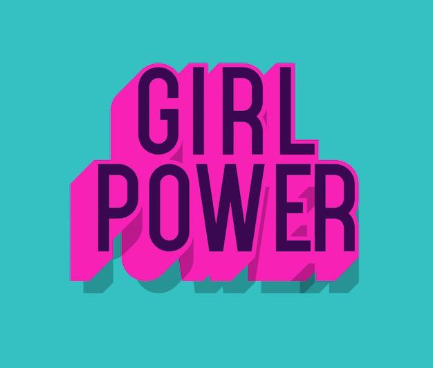 Cartaz de motivação com texto de poder de menina