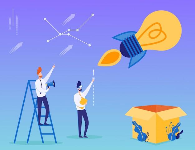 Cartaz de motivação de negócios de inicialização de idéia criativa