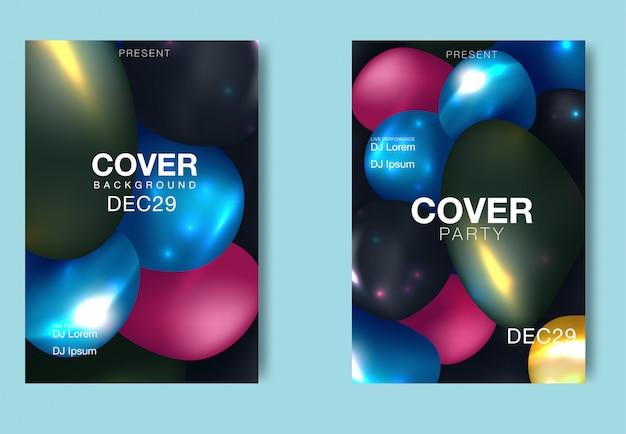 Cartaz de música eletrônica. panfleto de festa clube moderno. fundo abstrato da música dos inclinações. capa de fest vector verão
