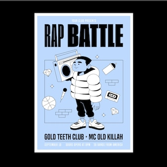 Cartaz de música estilo ilustrado