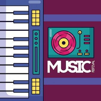 Cartaz de música festival