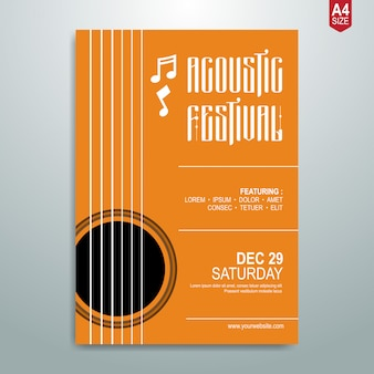 Cartaz de música minimalista