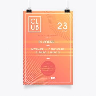 Cartaz de música moderna