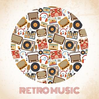Cartaz de música retrô