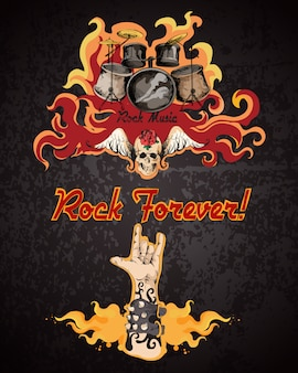 Cartaz de música rock
