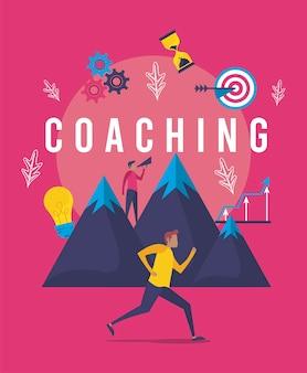 Cartaz de negócios de coaching