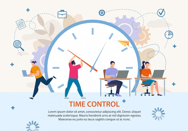Cartaz de negócios de gerenciamento de projetos de controle de tempo