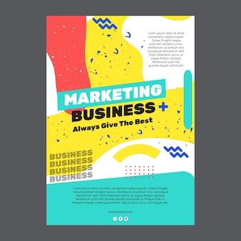 Cartaz de negócios de marketing