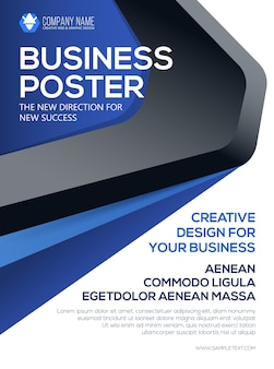 Cartaz de negócios do vetor. modelo de folheto. cartaz para o seu negócio. apresentação de capa