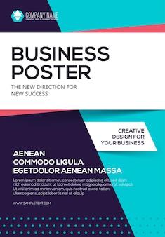 Cartaz de negócios modelo de folheto cartaz para sua empresa apresentação de capa
