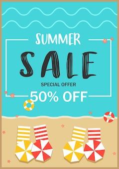 Cartaz de oferta especial de venda de verão