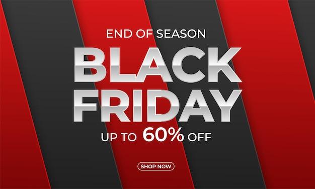 Cartaz de oferta promocional com desconto na black friday