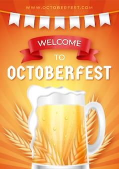 Cartaz de oktoberfest realista