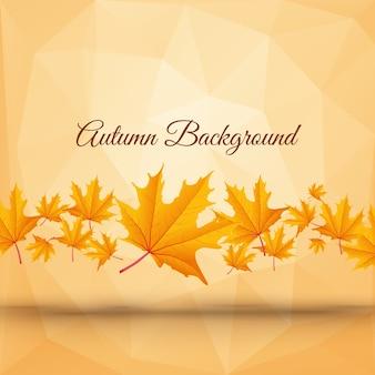 Cartaz de outono abstrato realista