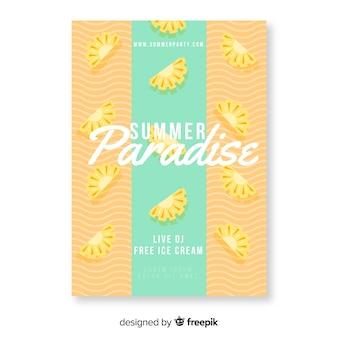 Cartaz de paraíso de verão colorido