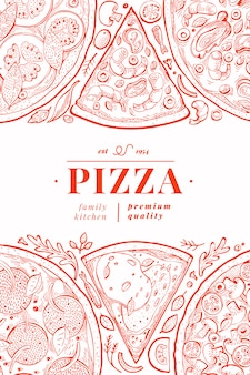Cartaz de pizza italiana