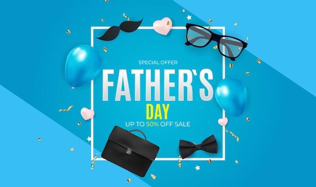 Cartaz de plano de fundo da venda do dia dos pais
