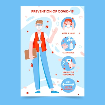 Cartaz de prevenção de coronavírus para lojas