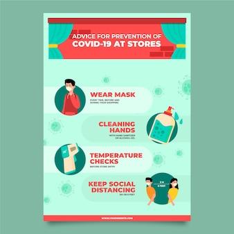 Cartaz de prevenção de coronavirus para lojas