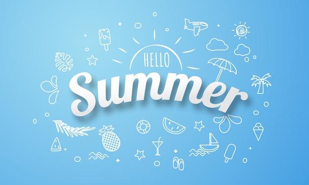 Cartaz de primavera verão