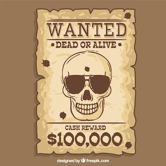 Cartaz de procurado bom western