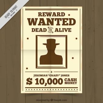 Cartaz de procurado criminoso