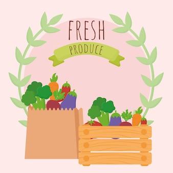 Cartaz de produtos frescos