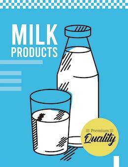 Cartaz de produtos lácteos