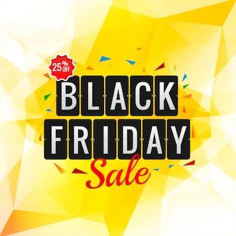 Cartaz de promoção de black friday para polígono