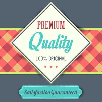 Cartaz de qualidade premium retro vintage design