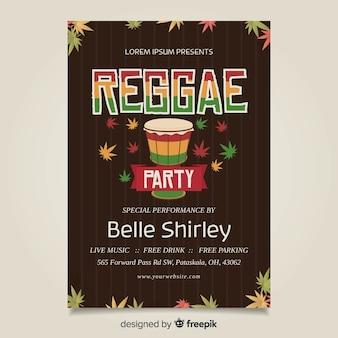 Cartaz de reggae de bateria