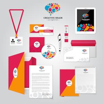 Cartaz de relacionamento social e identidade corporativa