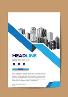 Cartaz de relatório anual de layout de folheto