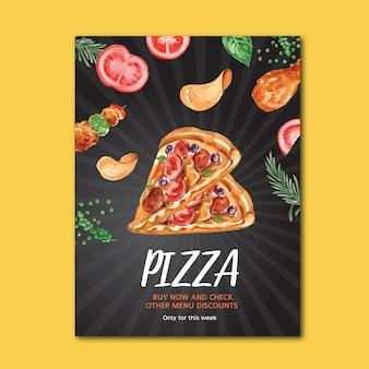 Cartaz de restaurante de fast food para decoração restaurante olhar comida apetitosa